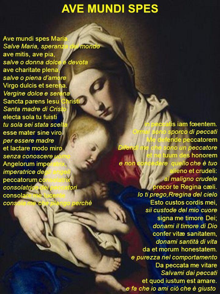 AVE MUNDI SPES Ave mundi spes Maria. Salve Maria, speranza del mondo