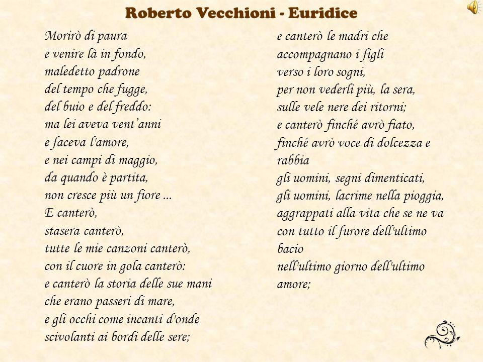 Roberto Vecchioni - Euridice