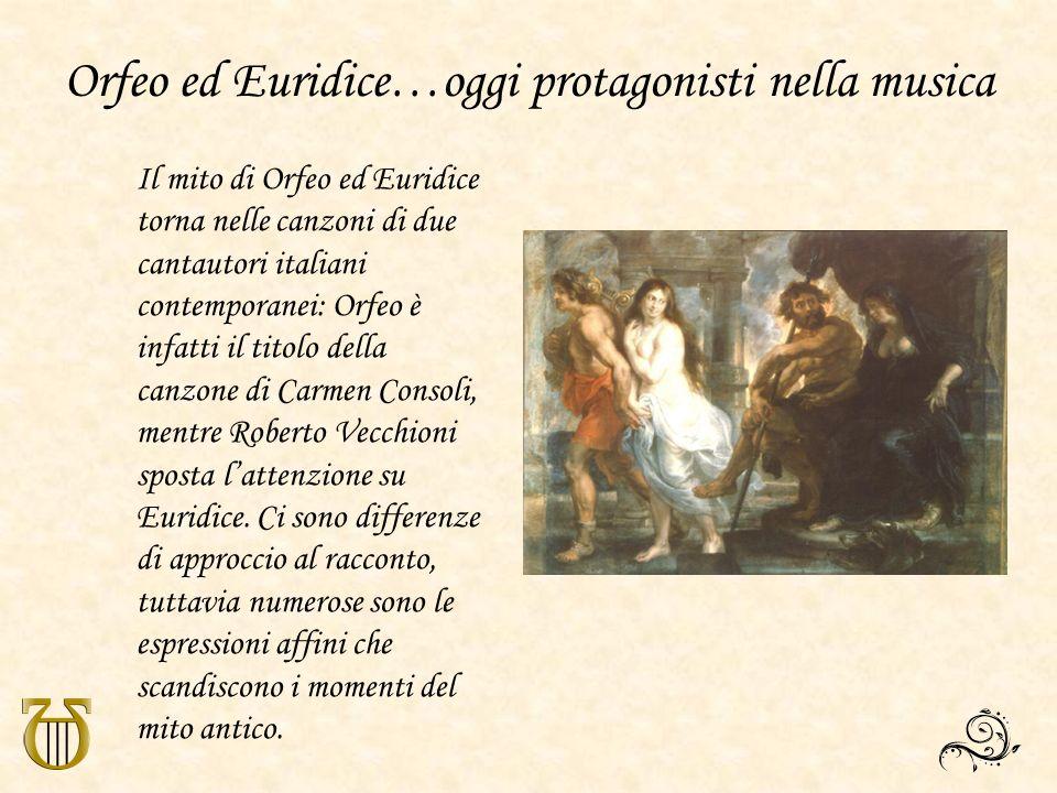 Orfeo ed Euridice…oggi protagonisti nella musica