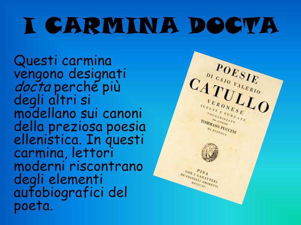 I CARMINA DOCTA