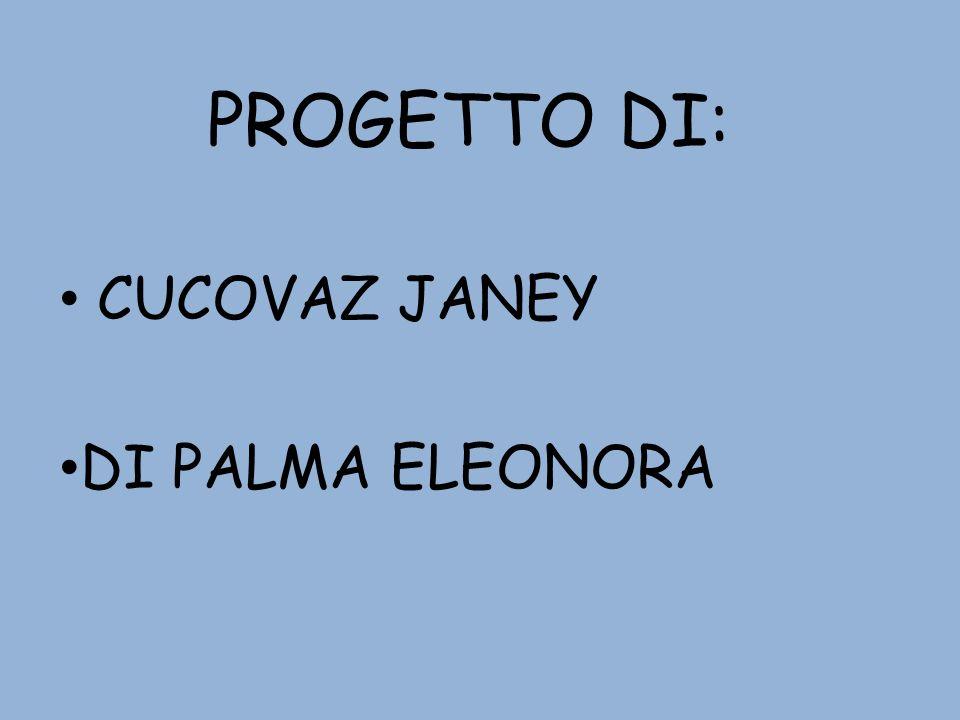 PROGETTO DI: CUCOVAZ JANEY DI PALMA ELEONORA