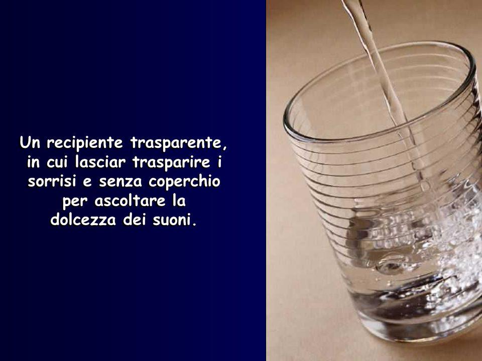 Un recipiente trasparente,