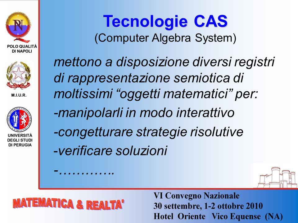 Tecnologie CAS (Computer Algebra System)