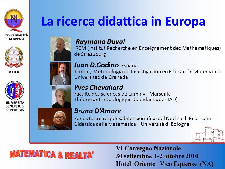 La ricerca didattica in Europa