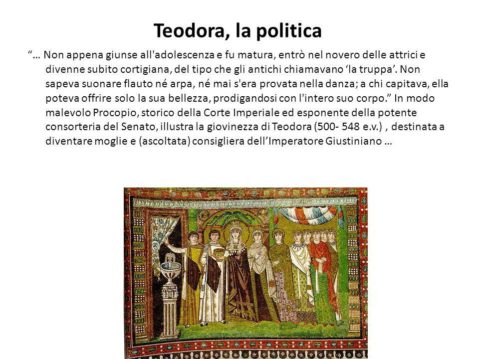 Teodora, la politica
