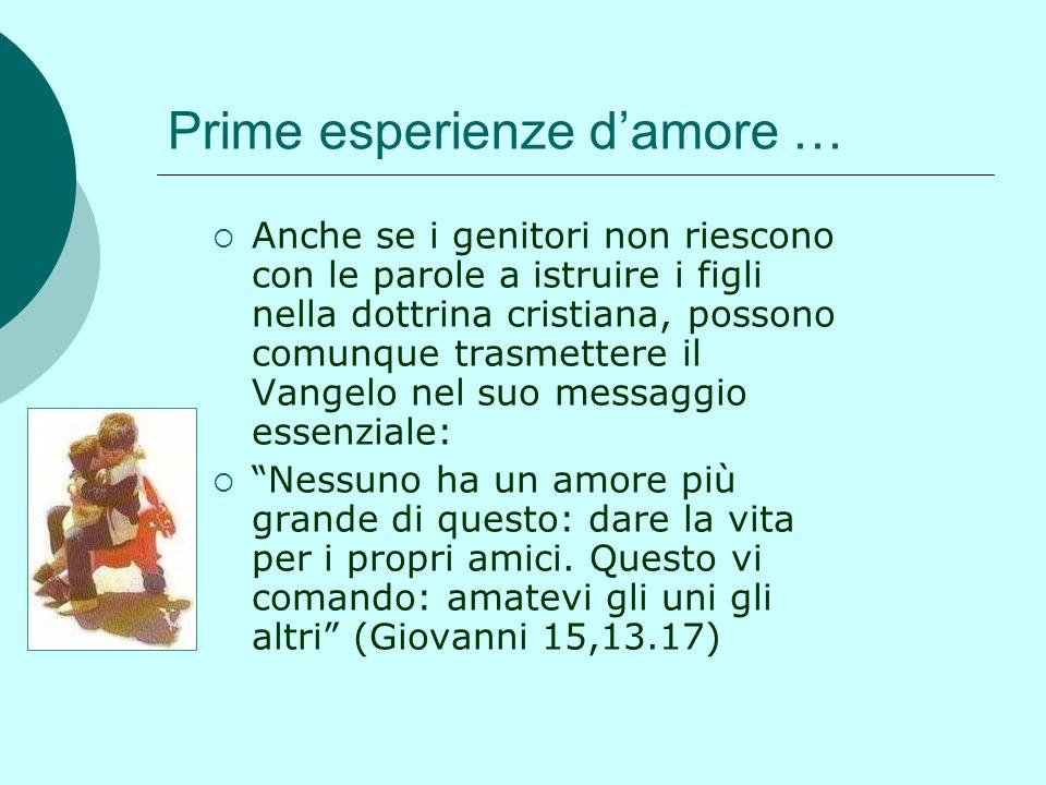 Prime esperienze d'amore …