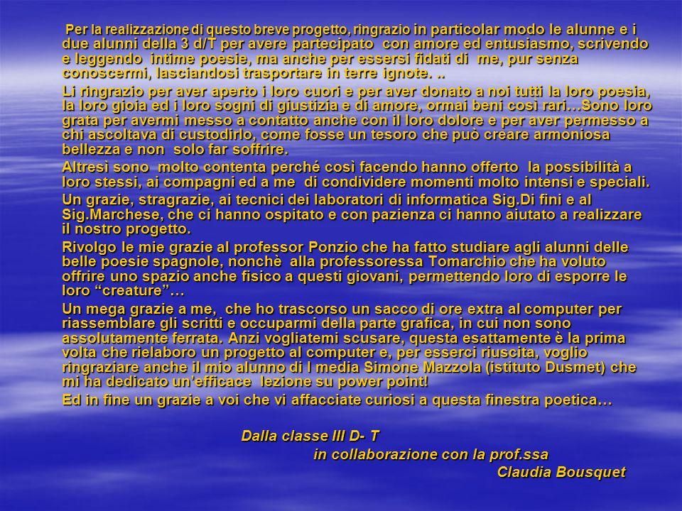 in collaborazione con la prof.ssa Claudia Bousquet