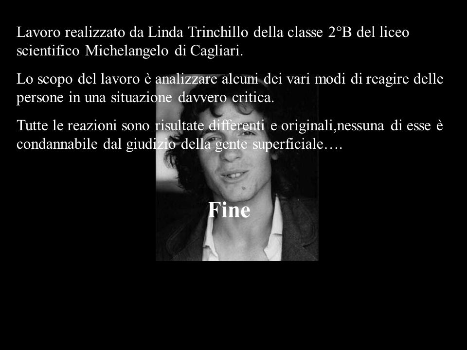 Lavoro realizzato da Linda Trinchillo della classe 2°B del liceo scientifico Michelangelo di Cagliari.