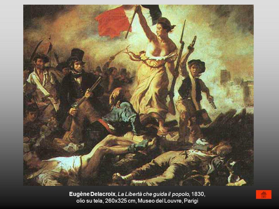 Eugène Delacroix, La Libertà che guida il popolo, 1830,