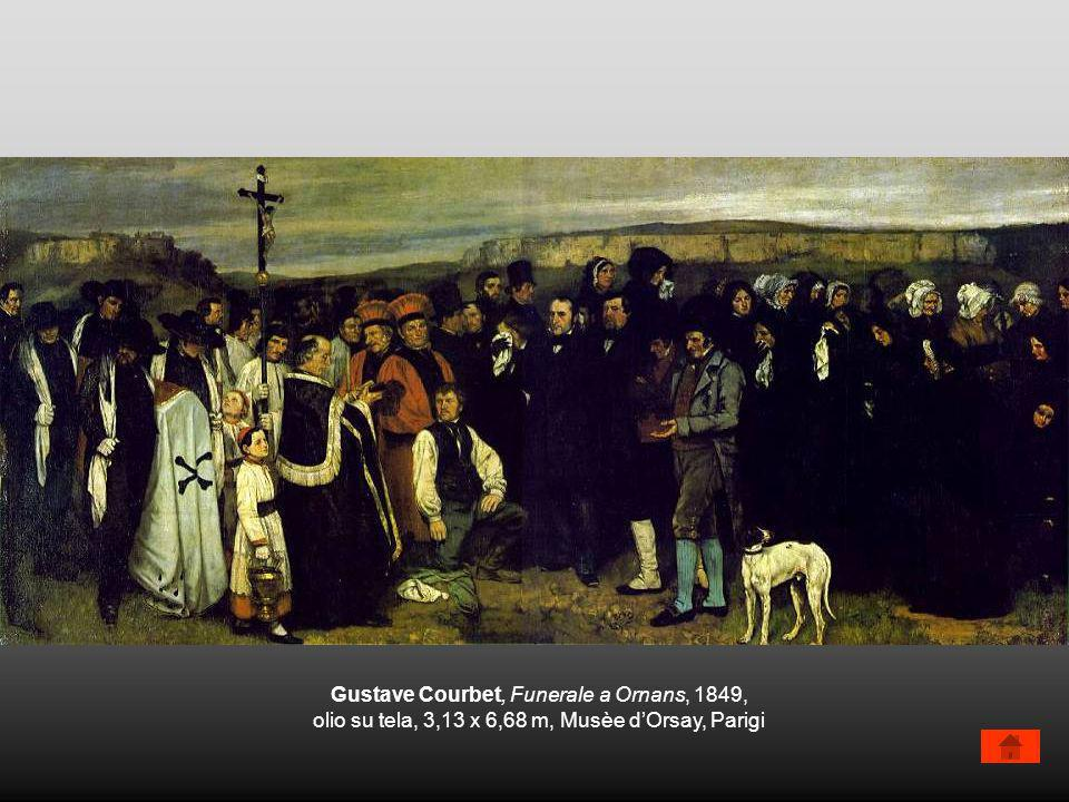 Gustave Courbet, Funerale a Ornans, 1849,