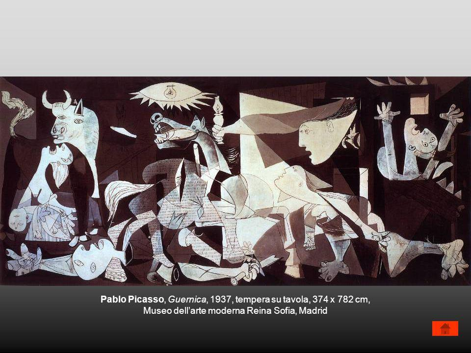 Pablo Picasso, Guernica, 1937, tempera su tavola, 374 x 782 cm,