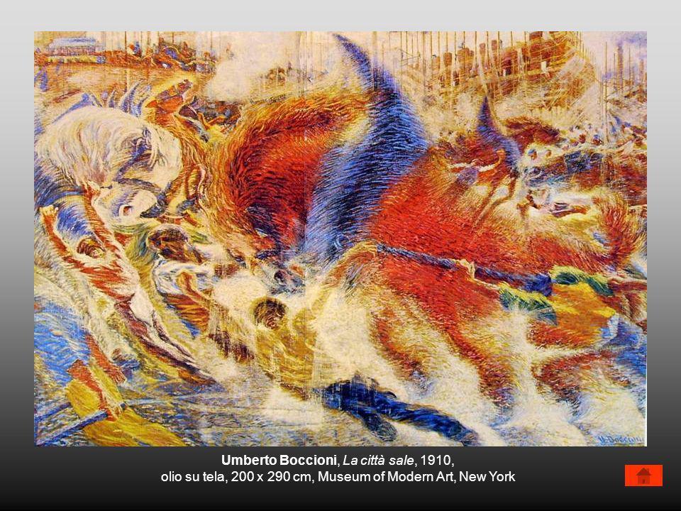 Umberto Boccioni, La città sale, 1910,