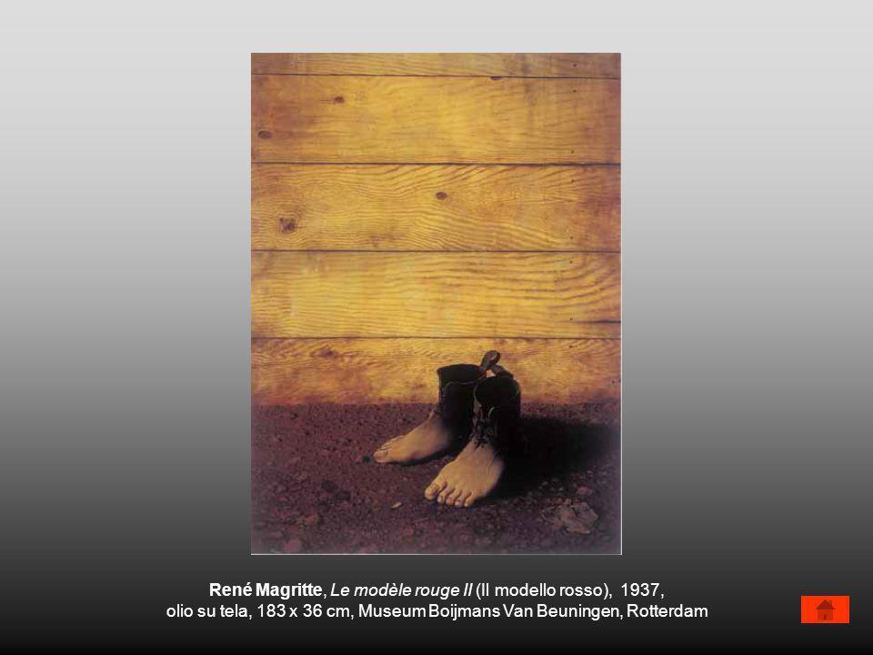 René Magritte, Le modèle rouge II (Il modello rosso), 1937,