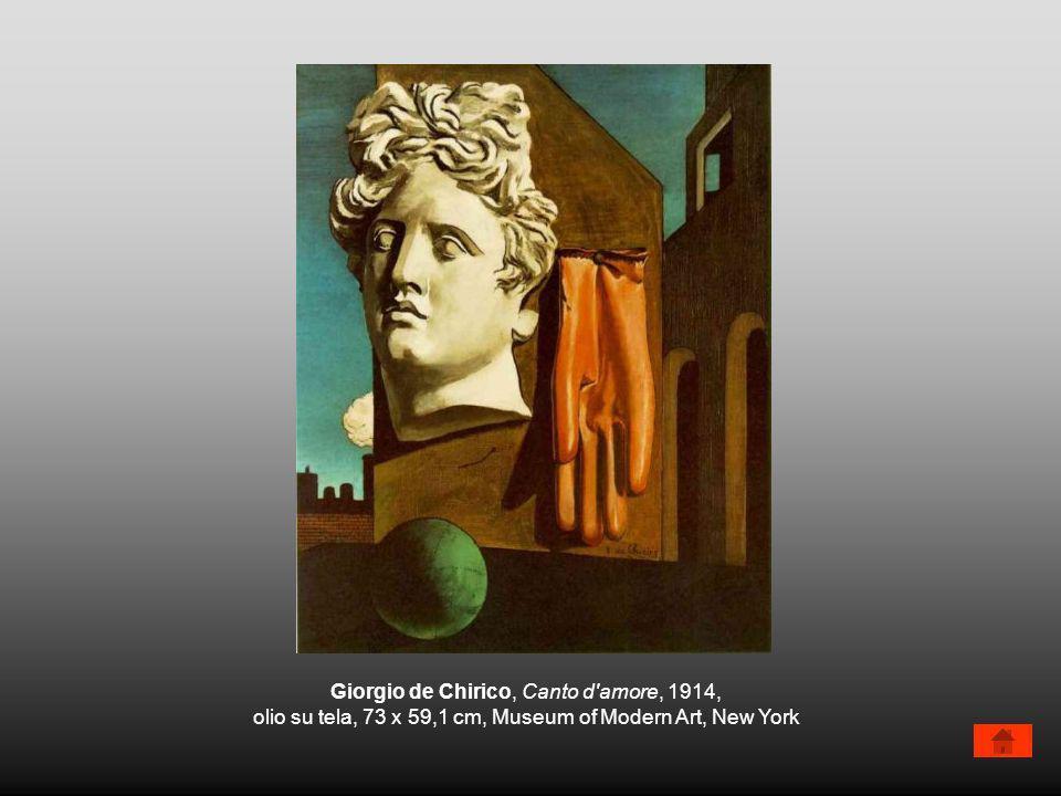 Giorgio de Chirico, Canto d amore, 1914,