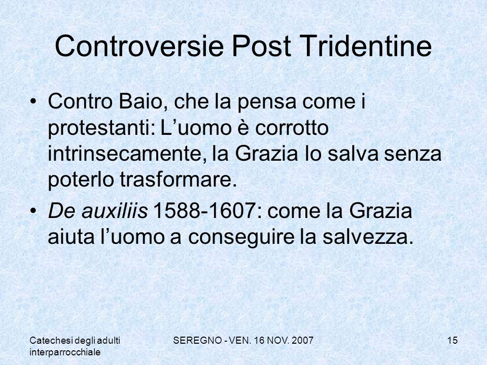 Controversie Post Tridentine