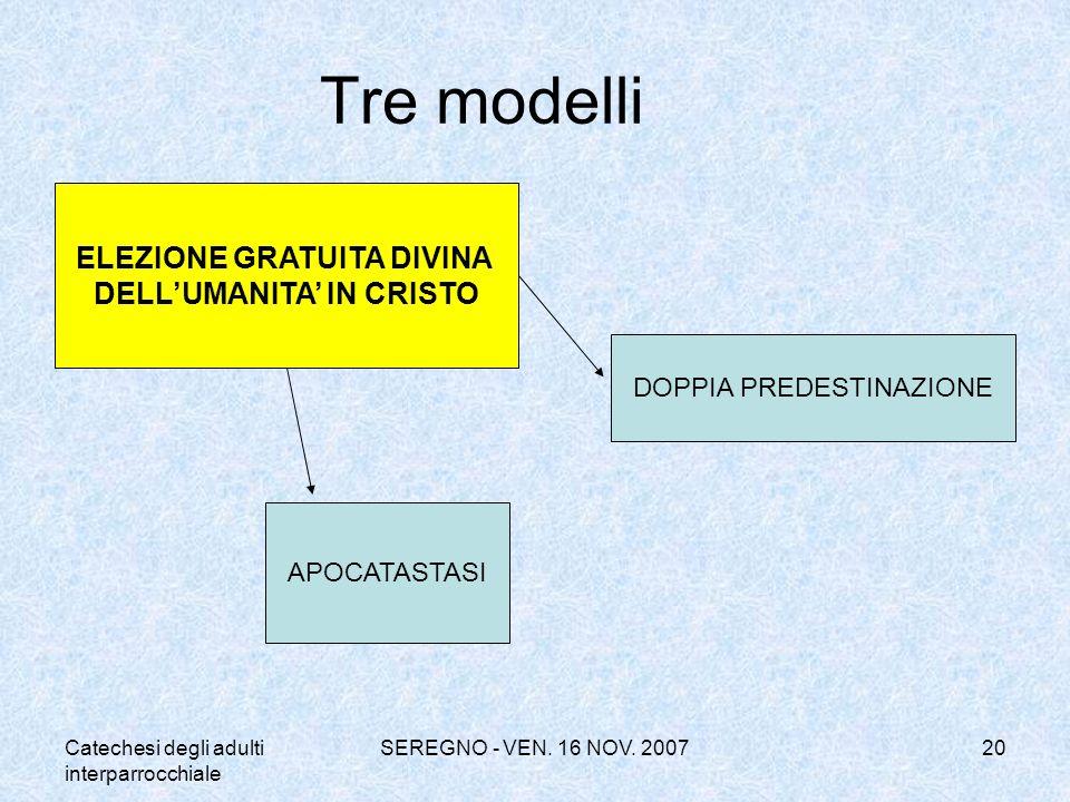 ELEZIONE GRATUITA DIVINA DELL'UMANITA' IN CRISTO