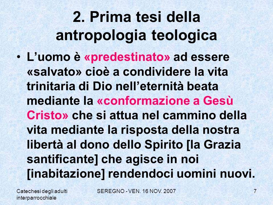 2. Prima tesi della antropologia teologica