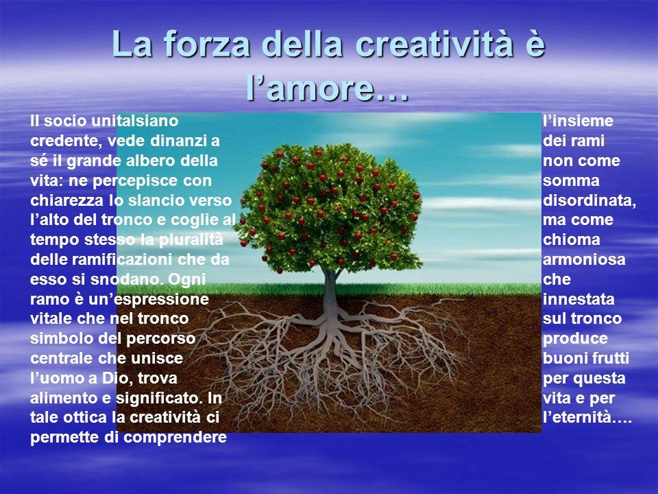 La forza della creatività è l'amore…