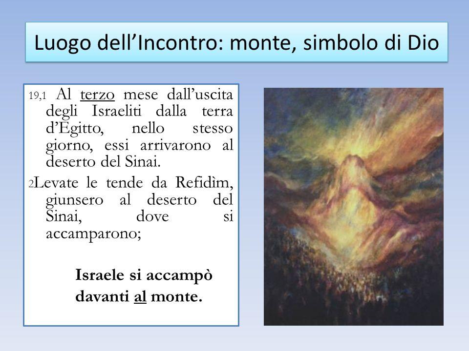 Luogo dell'Incontro: monte, simbolo di Dio