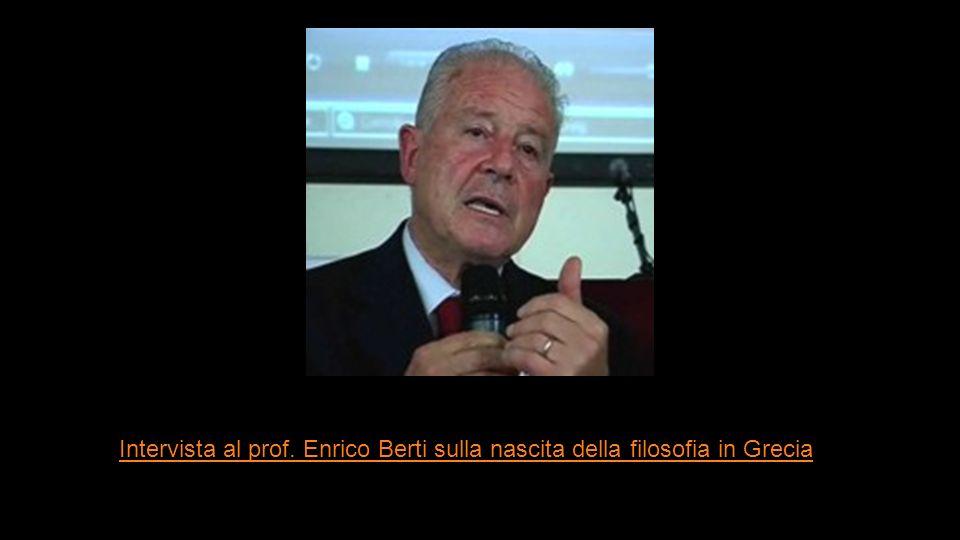 Intervista al prof. Enrico Berti sulla nascita della filosofia in Grecia
