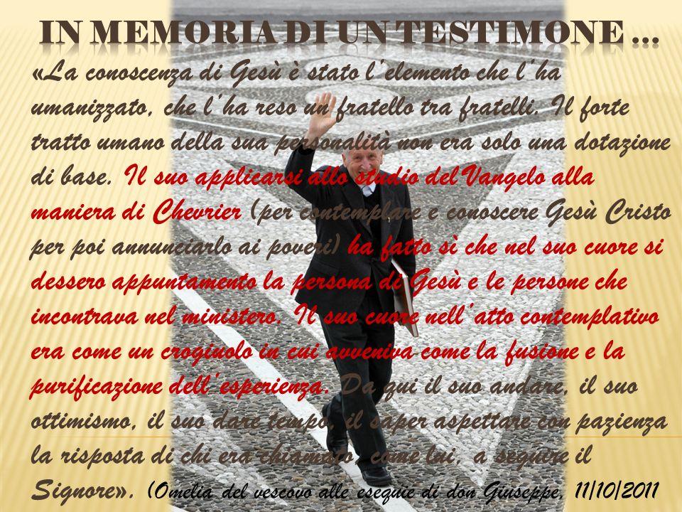 In memoria di un Testimone …