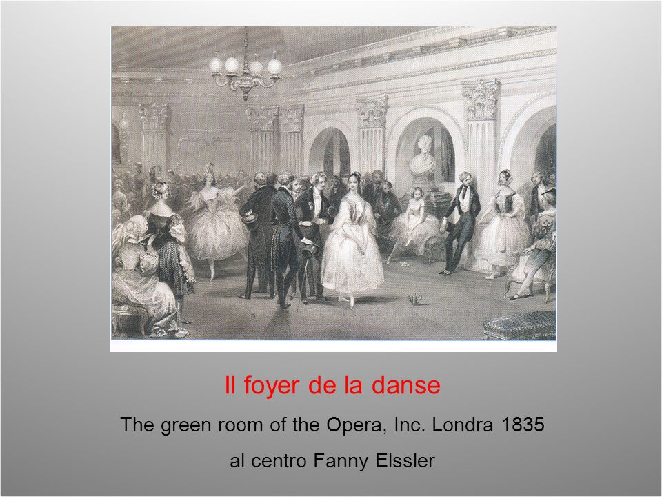 Il foyer de la danse The green room of the Opera, Inc. Londra 1835