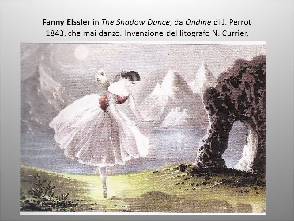 Fanny Elssler in The Shadow Dance, da Ondine di J