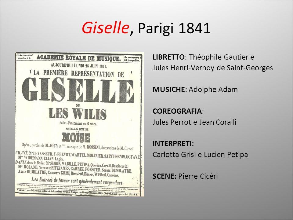 Giselle, Parigi 1841 LIBRETTO: Théophile Gautier e