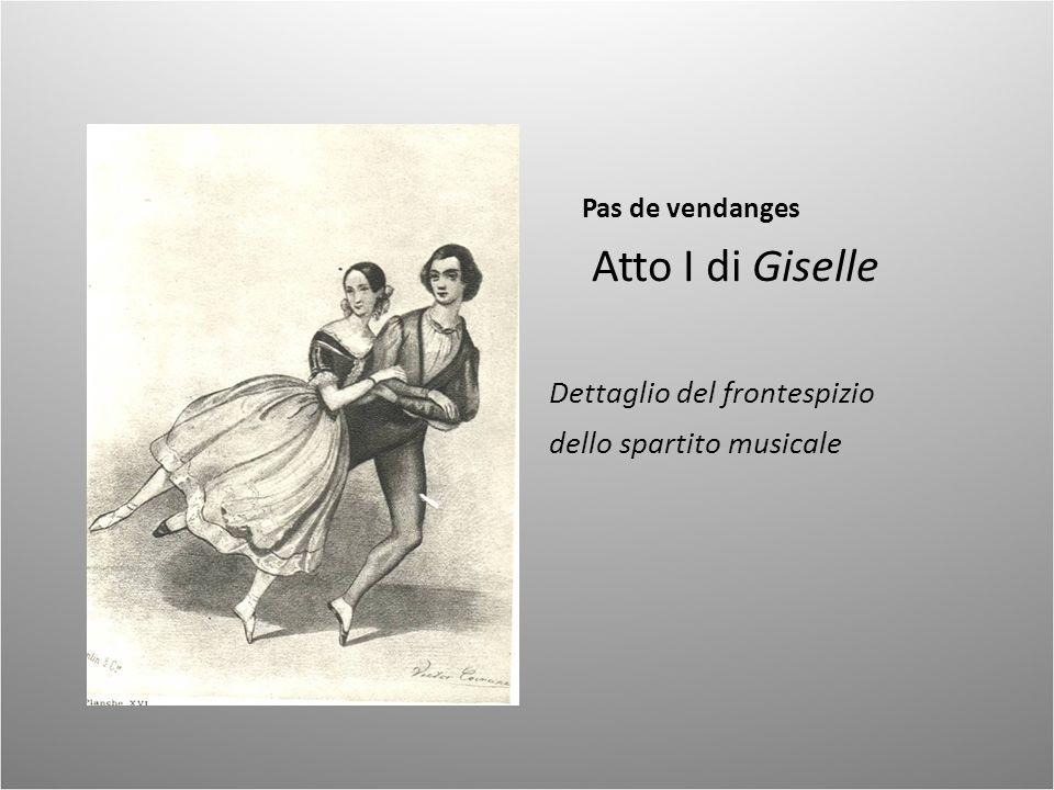 Atto I di Giselle Dettaglio del frontespizio dello spartito musicale