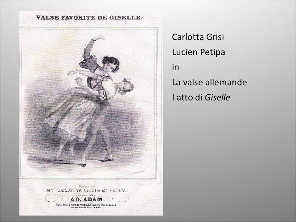 Carlotta Grisi Lucien Petipa in La valse allemande I atto di Giselle