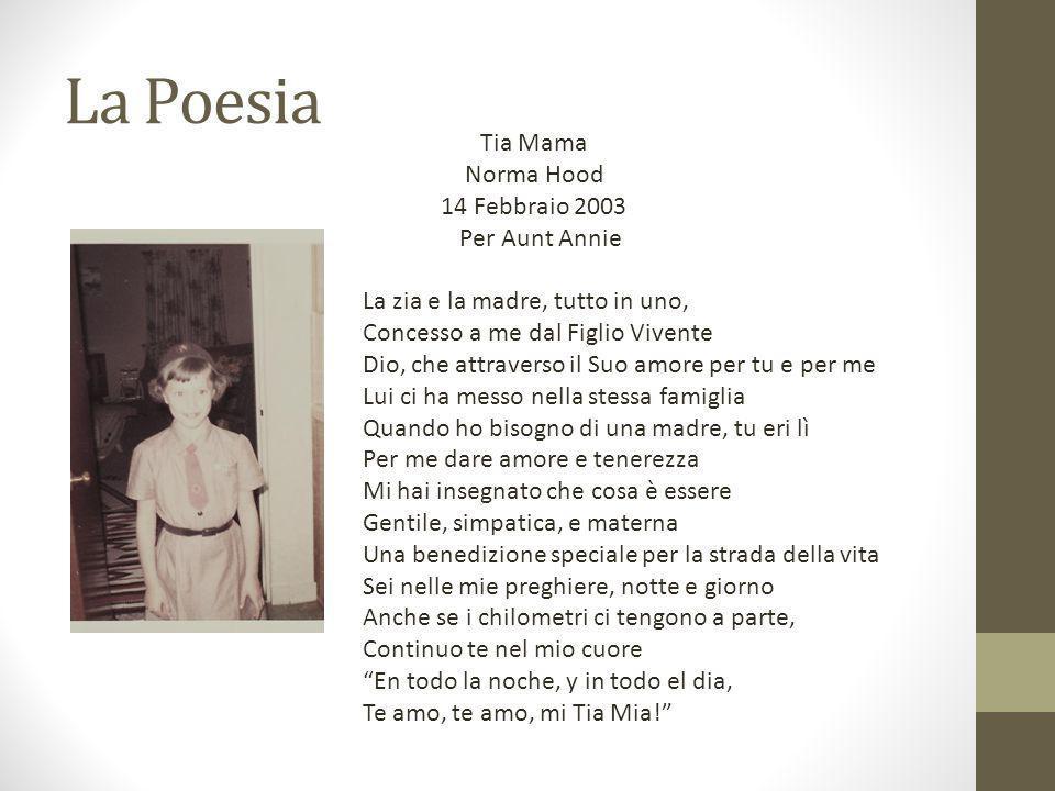 La Poesia Tia Mama Norma Hood 14 Febbraio 2003 Per Aunt Annie