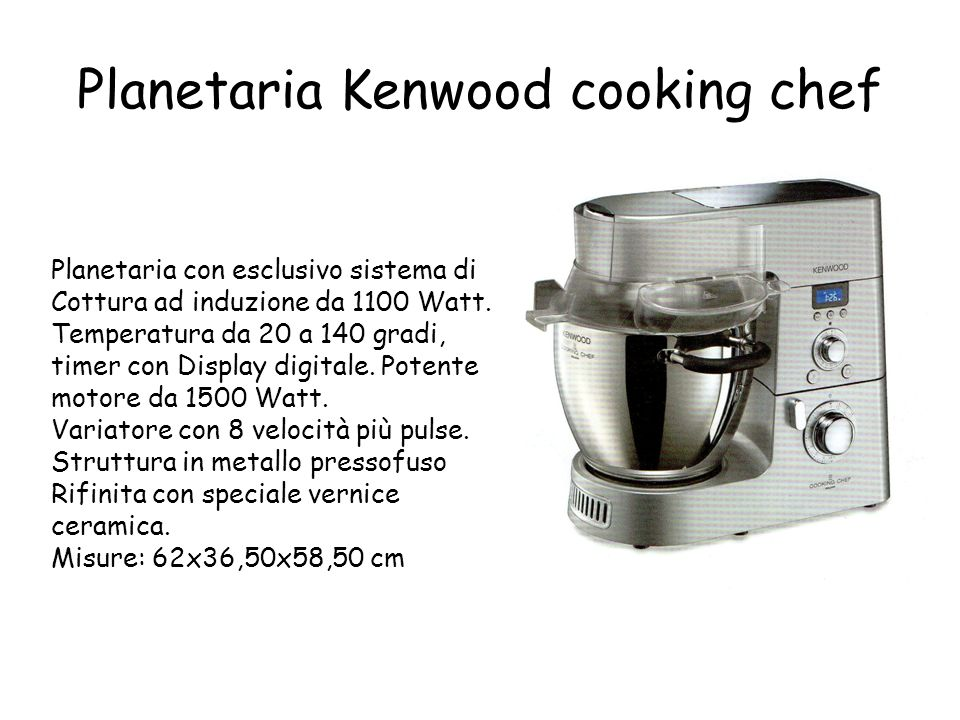 Planetaria Kenwood cooking chef