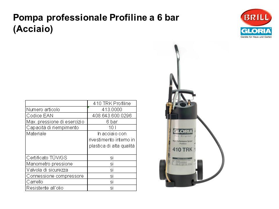 Pompa professionale Profiline a 6 bar (Acciaio)