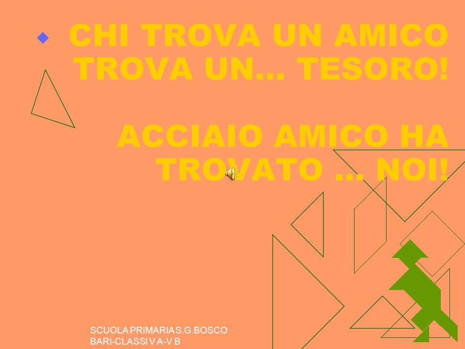 CHI TROVA UN AMICO TROVA UN… TESORO! ACCIAIO AMICO HA TROVATO … NOI!