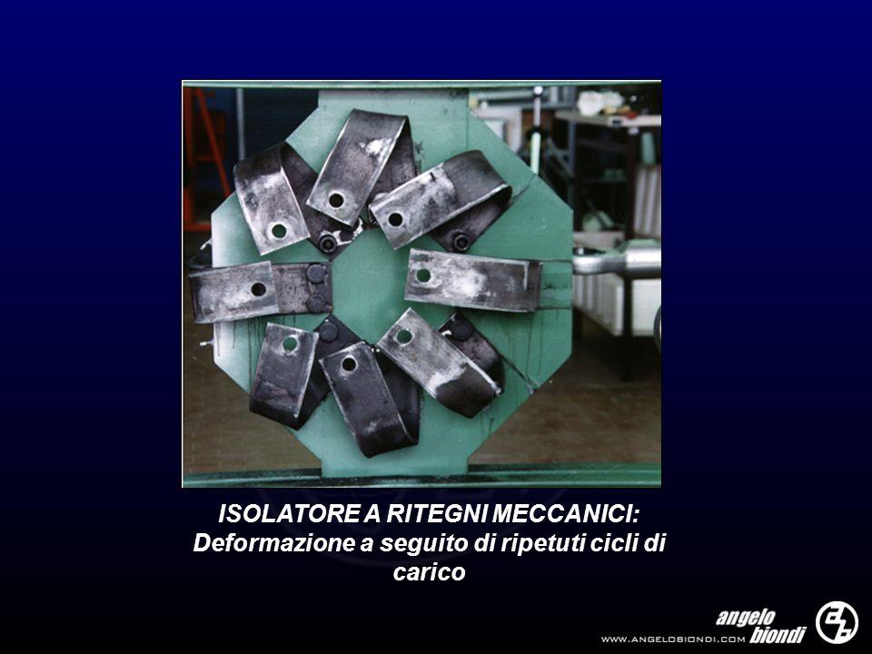 ISOLATORE A RITEGNI MECCANICI: Deformazione a seguito di ripetuti cicli di carico