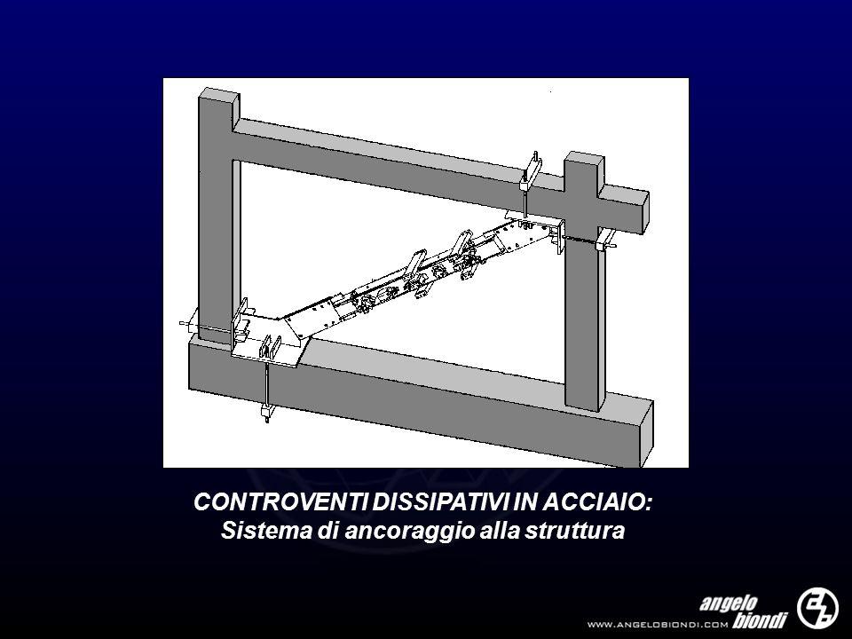 CONTROVENTI DISSIPATIVI IN ACCIAIO: Sistema di ancoraggio alla struttura