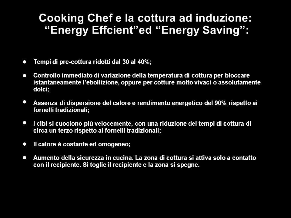 • • • • • • Cooking Chef e la cottura ad induzione: