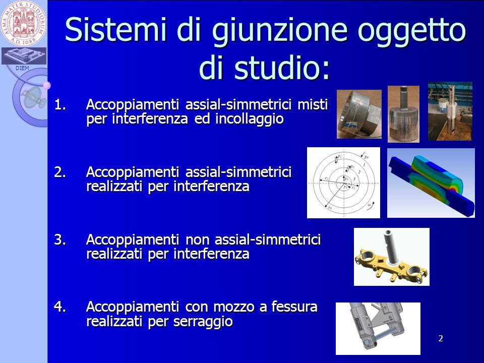 Sistemi di giunzione oggetto di studio: