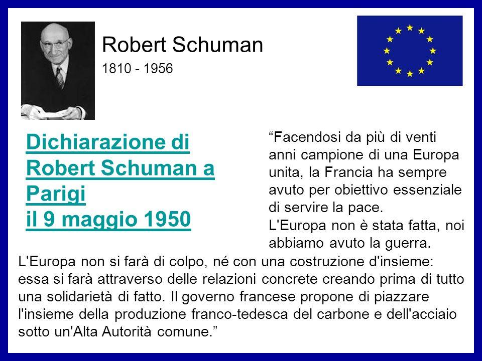 Dichiarazione di Robert Schuman a Parigi