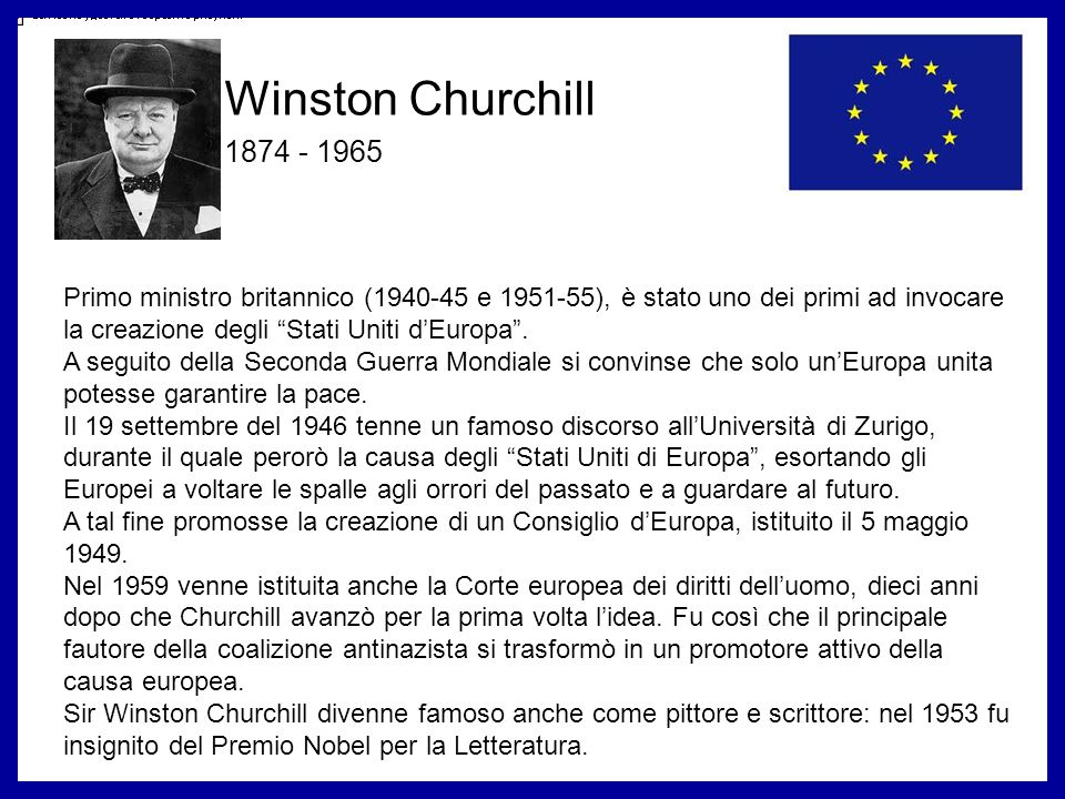 Winston Churchill 1874 - 1965.