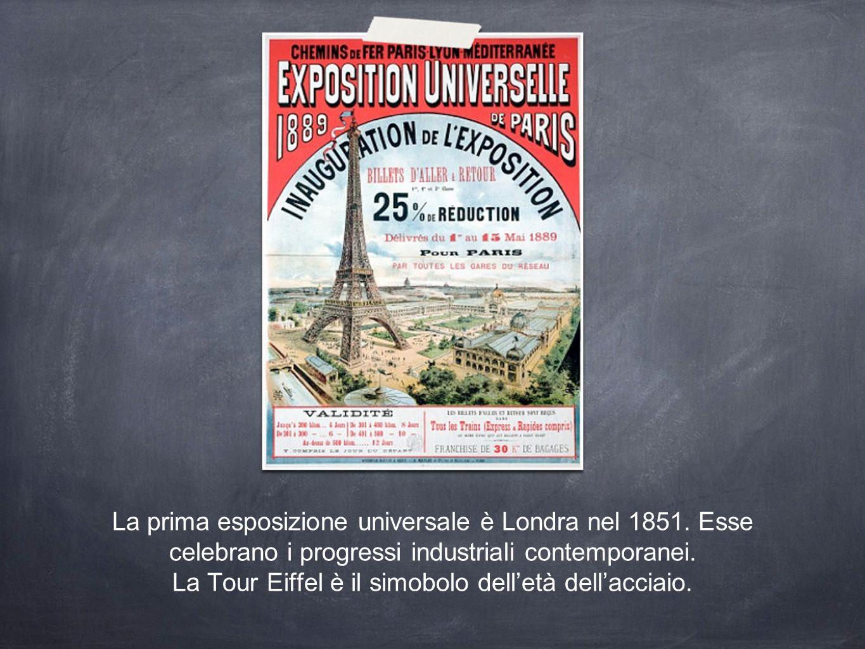 La prima esposizione universale è Londra nel 1851