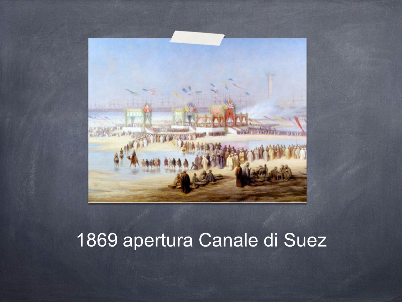 1869 apertura Canale di Suez