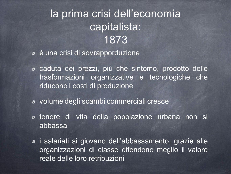 la prima crisi dell'economia capitalista: 1873