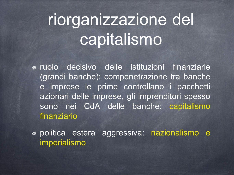 riorganizzazione del capitalismo
