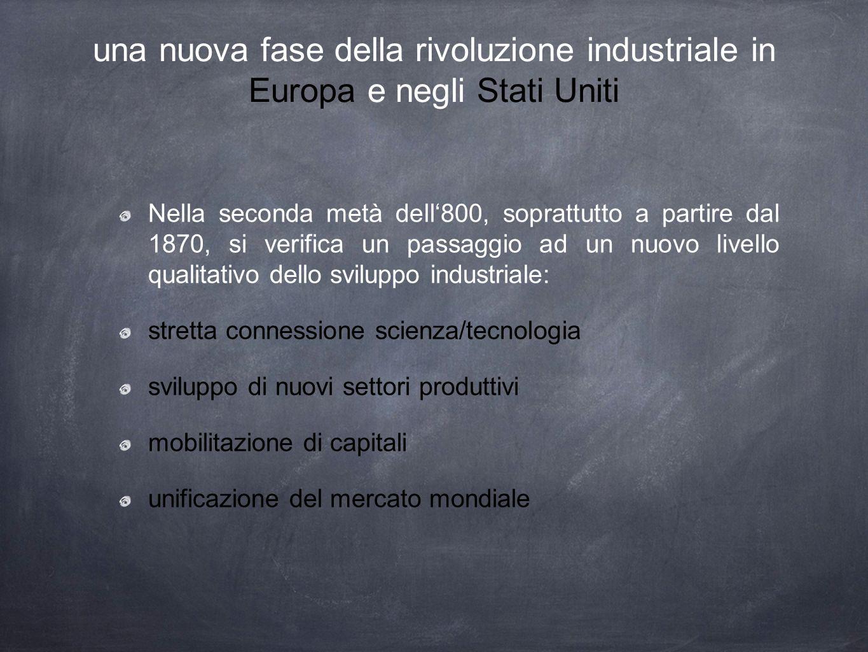 una nuova fase della rivoluzione industriale in Europa e negli Stati Uniti
