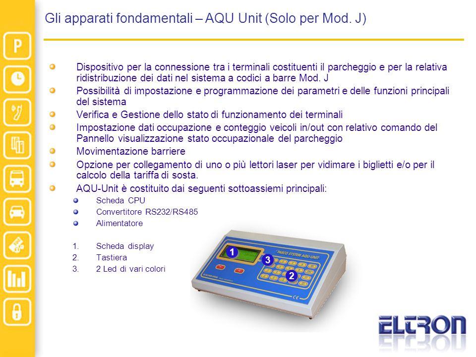 Gli apparati fondamentali – AQU Unit (Solo per Mod. J)