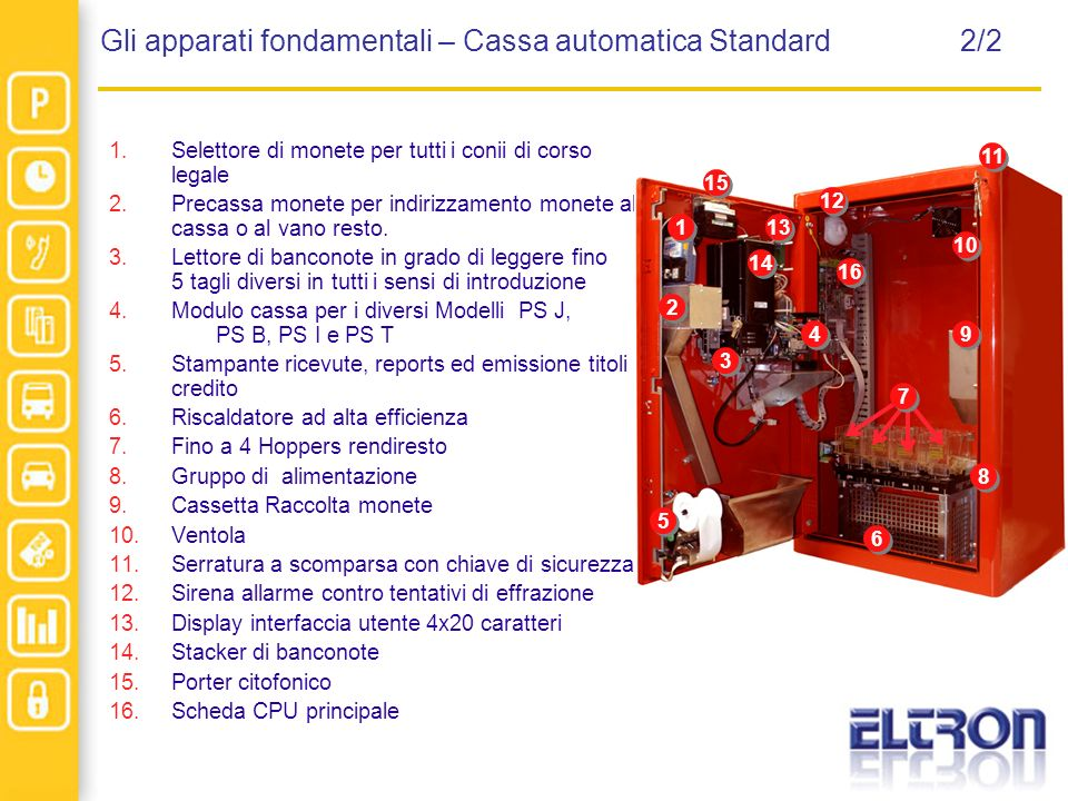Gli apparati fondamentali – Cassa automatica Standard 2/2