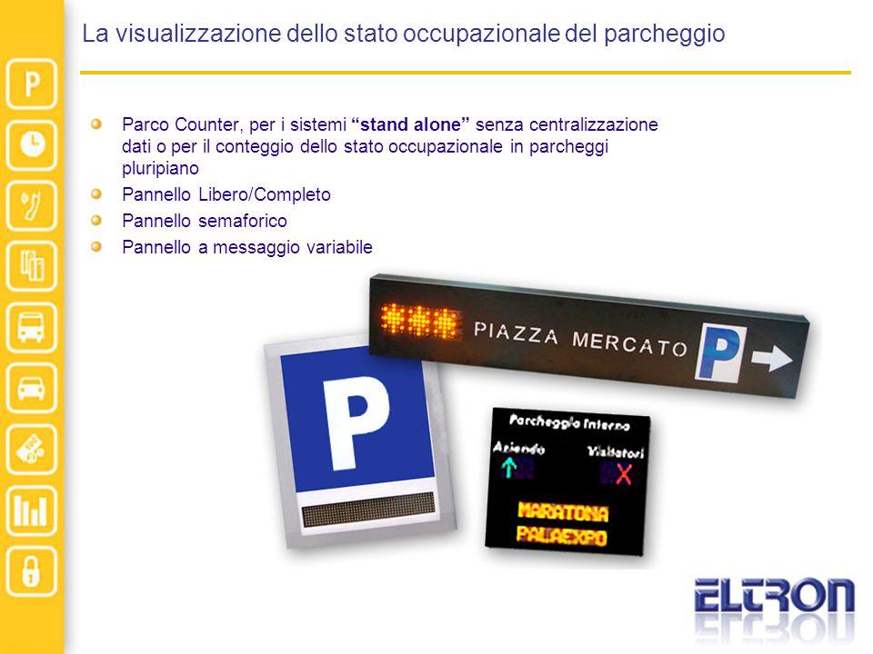 La visualizzazione dello stato occupazionale del parcheggio