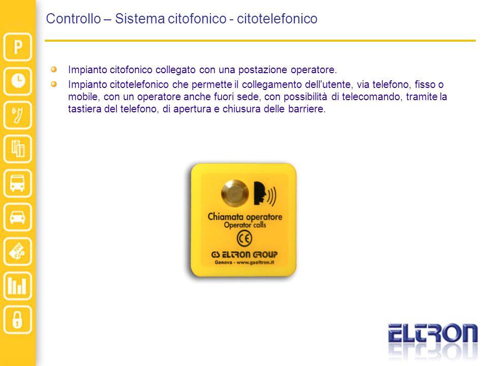 Controllo – Sistema citofonico - citotelefonico