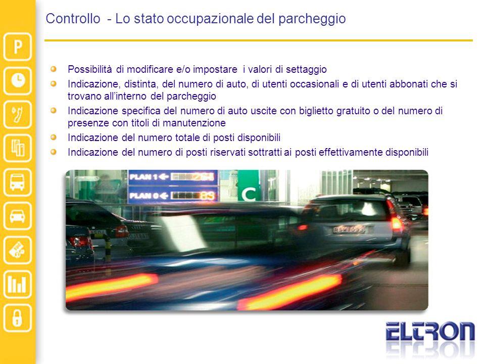 Controllo - Lo stato occupazionale del parcheggio